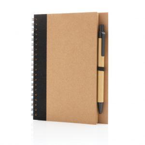 Kraft spiral notebook with pen P774.261