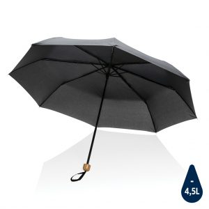 """20.5"""" Impact AWARE™ RPET 190T Pongee bamboo mini umbrella P850.571"""