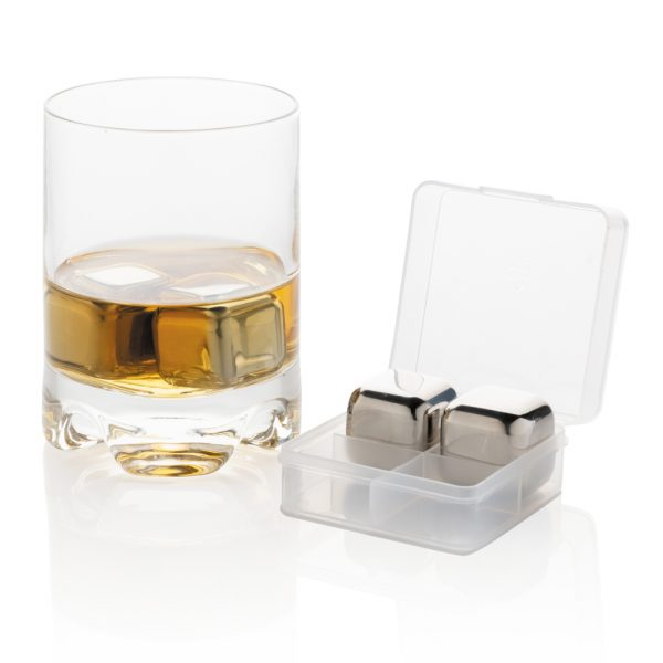 Re-usable stainless steel ice cubes 4pc P911.082