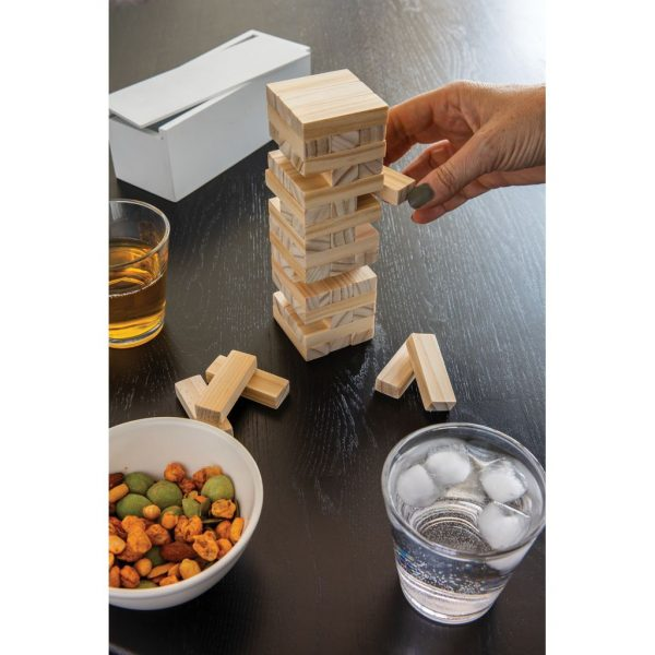 Deluxe tumbling tower wood block stacking game P940.083