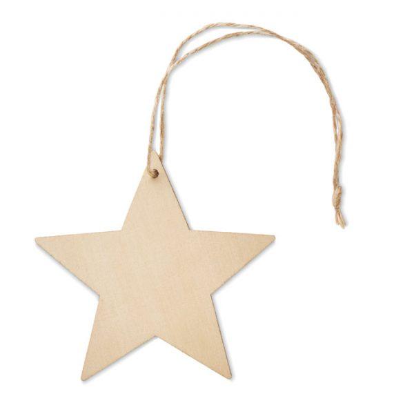 Wooden star shaped hanger ESTY CX1476-40