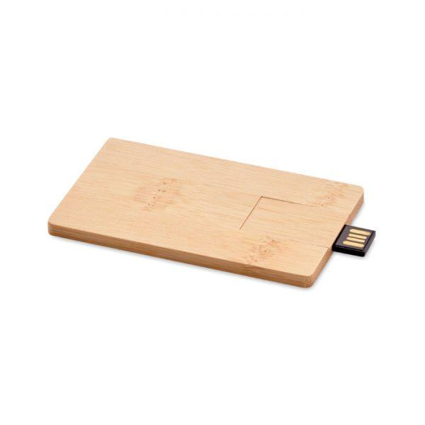 16GB bamboo casing USB CREDITCARD PLUS MO1203-40
