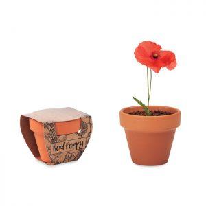 Terracotta pot 'poppy' RED POPPY MO6148-40