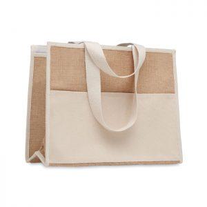 Jute and canvas cooler bag CAMPO DE GELI MO6160-13