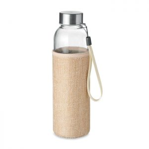 Glass bottle in pouch 500ml UTAH TOUCH MO6168-13