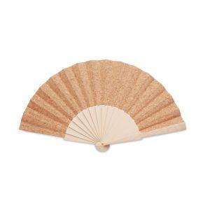 Wood hand fan with cork fabric FANNY CORK MO6232-13