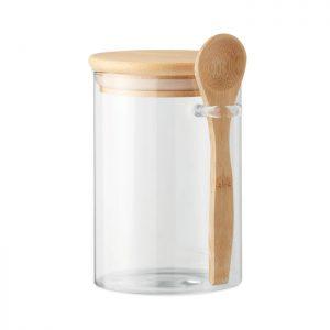 Glass jar with spoon 600 ml BOROSPOON MO6247-22