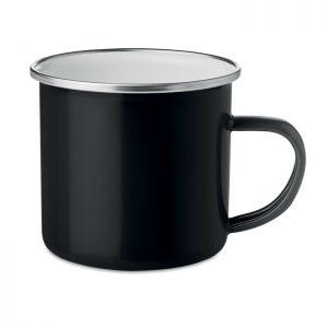 Metal mug with enamel layer PLATEADO MO9756-03