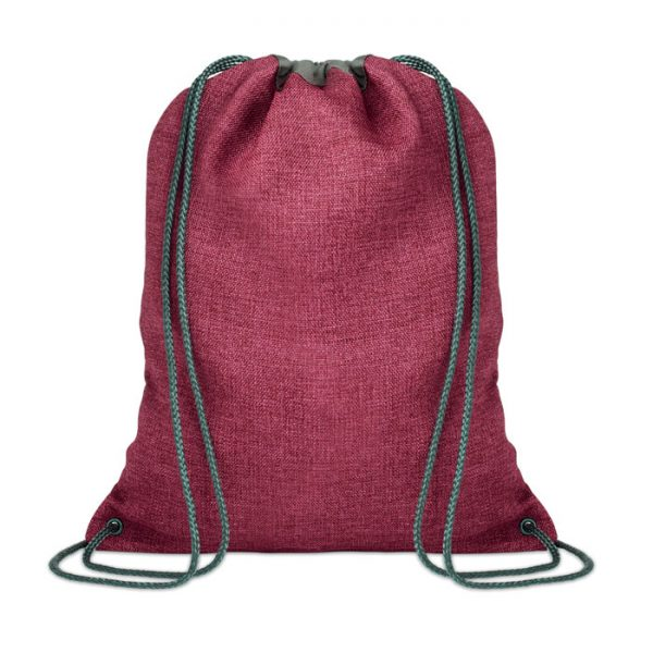 1200D heathered drawstring bag TOCAYO MO9776-05