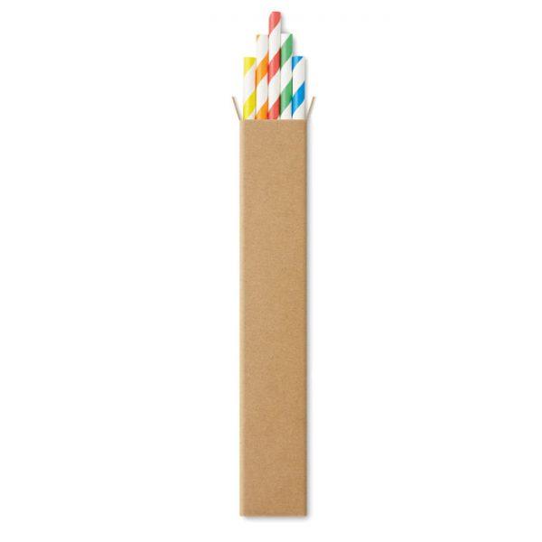 10 paper straws in Kraft box PAPER STRAW MO9795-99