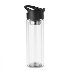 Double wall glass bottle 380ml BIELO MO9797-22