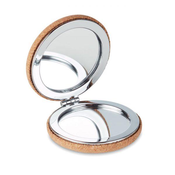 Pocket mirror with cork cover GUAPA CORK MO9799-13