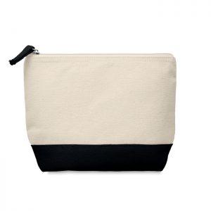 Bicolour cotton cosmetic bag KLEUREN MO9815-03