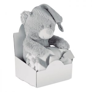 Large teddy bear with blanket OSSET MO9841-07