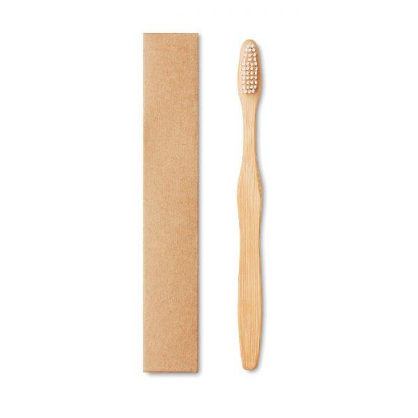 Bamboo toothbrush in Kraft box DENTOBRUSH MO9877-06