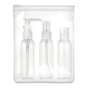 Travel set PE in PEVA pouch TRAVEL 3 MO9886-22