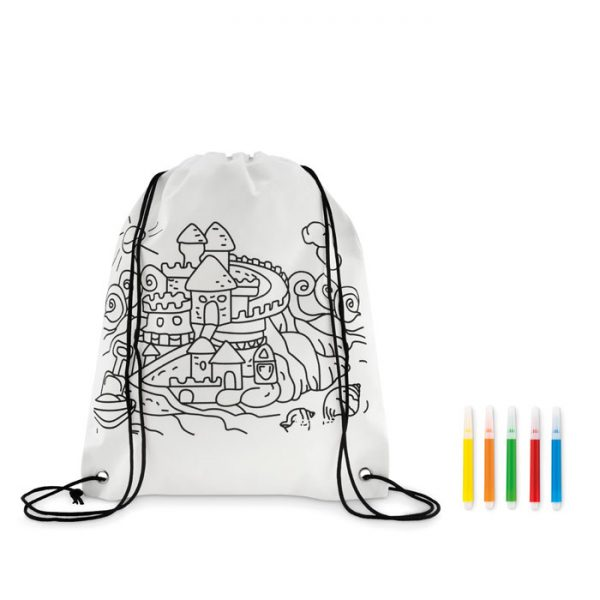 Non woven kids bag with pens CARRYDRAW MO9887-06