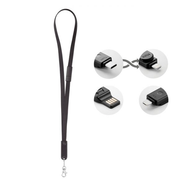 Lanyard with 3 in 1 cable CABLEYARD MO9889-03