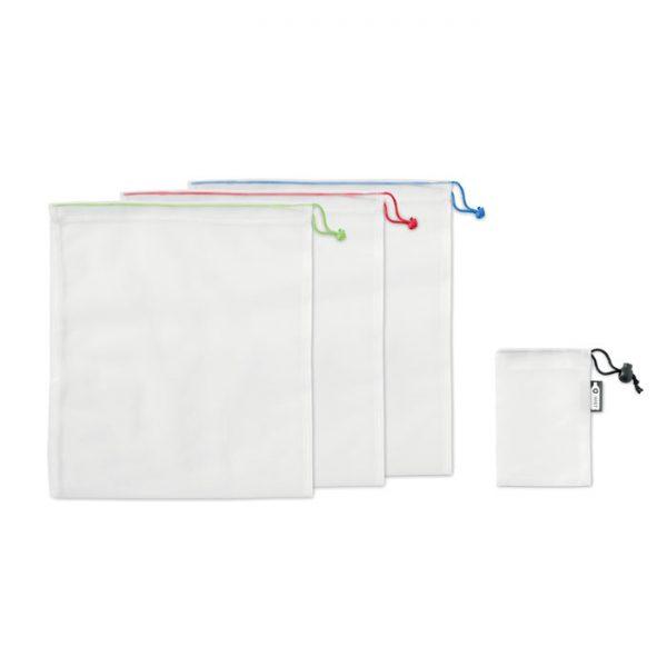 Set of 3 RPET mesh food bags VEGGIE SET RPET MO9898-06