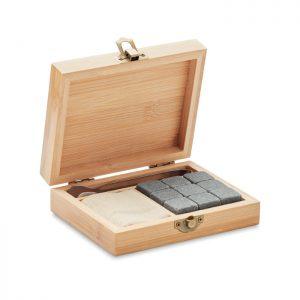 Whisky set in bamboo box DUNDALK MO9942-40