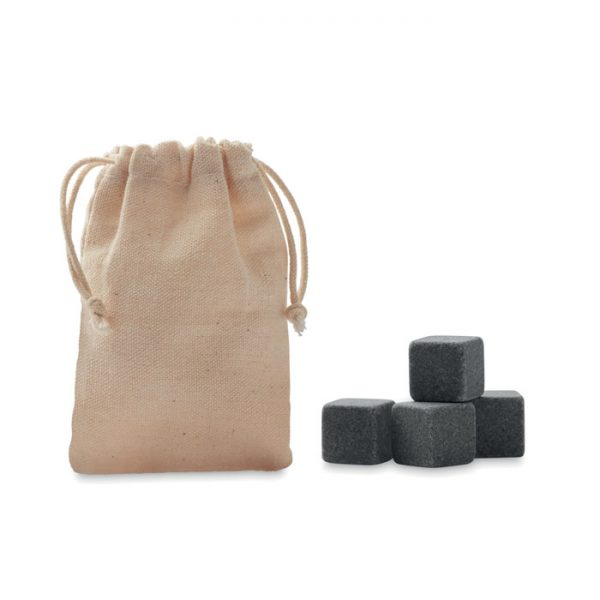 4 stone ice cubes in  pouch ROCKS MO9943-13