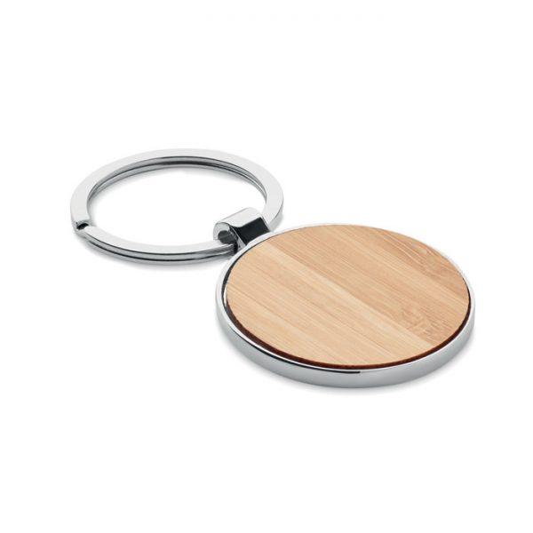 Round key ring metal bamboo BALLARAT MO9948-40