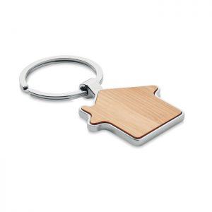 House key ring metal bamboo BURNIE MO9949-40