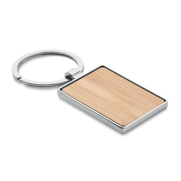 Rectangular key ring bamboo BENDIGO MO9961-40