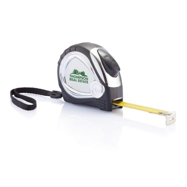 Chrome plated auto stop tape measure P113.401