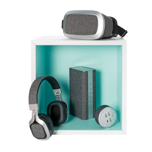 Vogue fabric speaker and powerbank P326.842