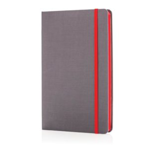 Deluxe fabric notebook with coloured side P773.284