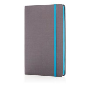 Deluxe fabric notebook with coloured side P773.285